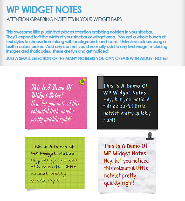WP-Widget-Notes