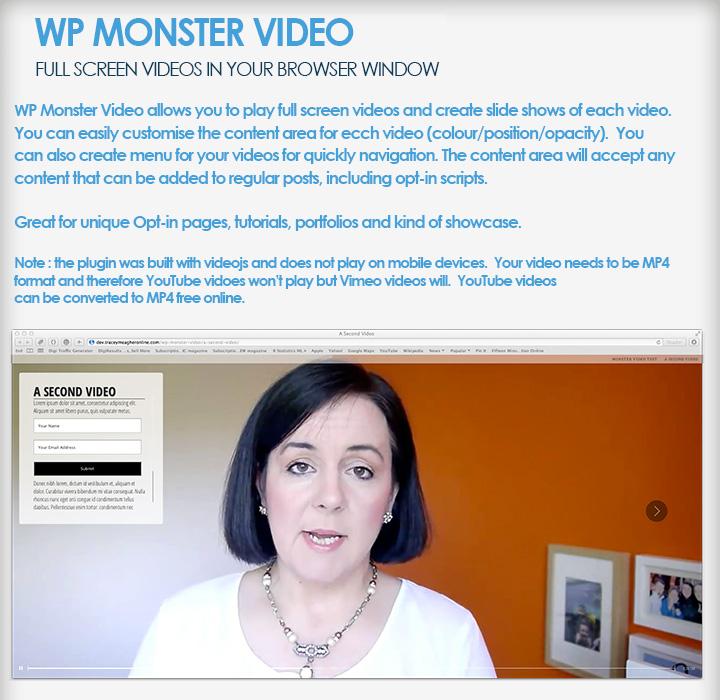 WP-Monster-Video